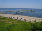 beach and seabridge in baltic sea, 250 m from apartment